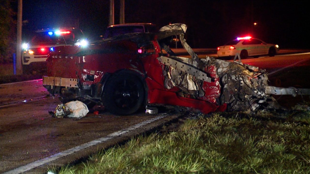 Three dead in fiery two-vehicle Polk County crash
