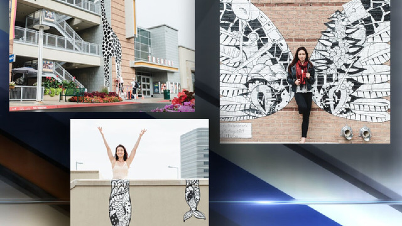 New murals by Kelsey Montague invite creativity at Greenwood Village's Landmark