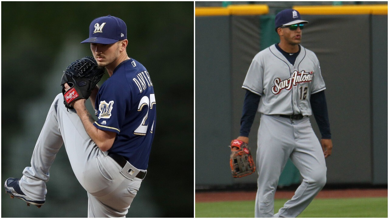Brewers trade pitcher Zach Davies, outfielder Trent Grisham to Padres for Luis Urias, Eric Lauer