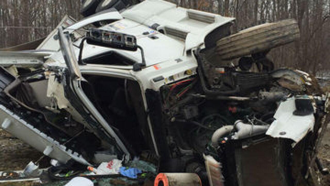 PHOTOS: Semi crashes into house in Wayne County