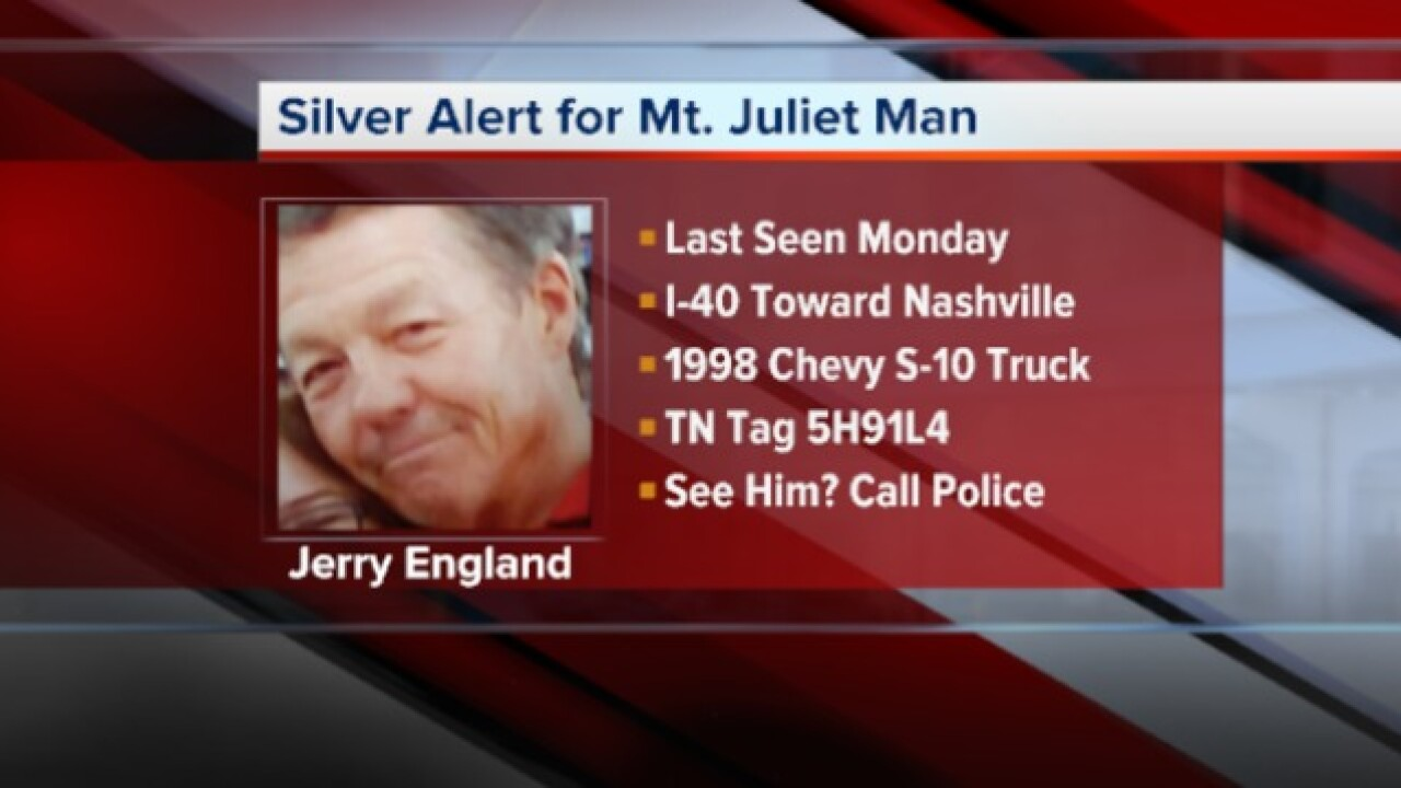 Mt. Juliet Man Found Safe, Silver Alert Canceled