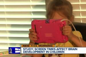 Experts warn about too much screen time could hinder brain development in young kids