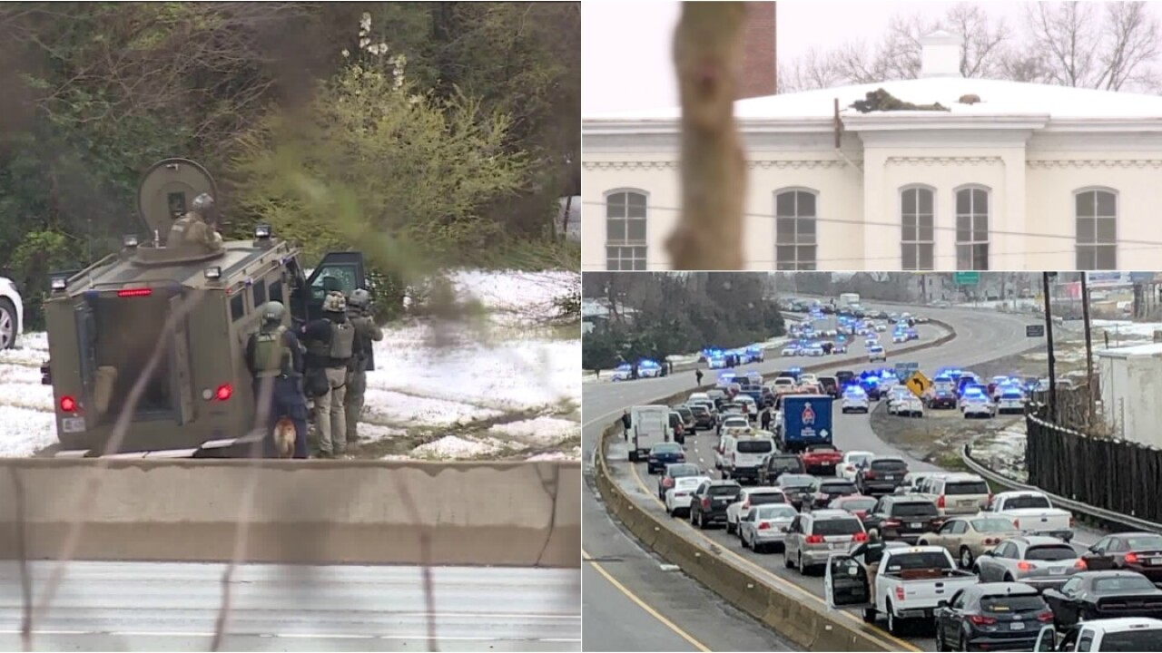 Popping sounds heard before standoff that closed I-95ends