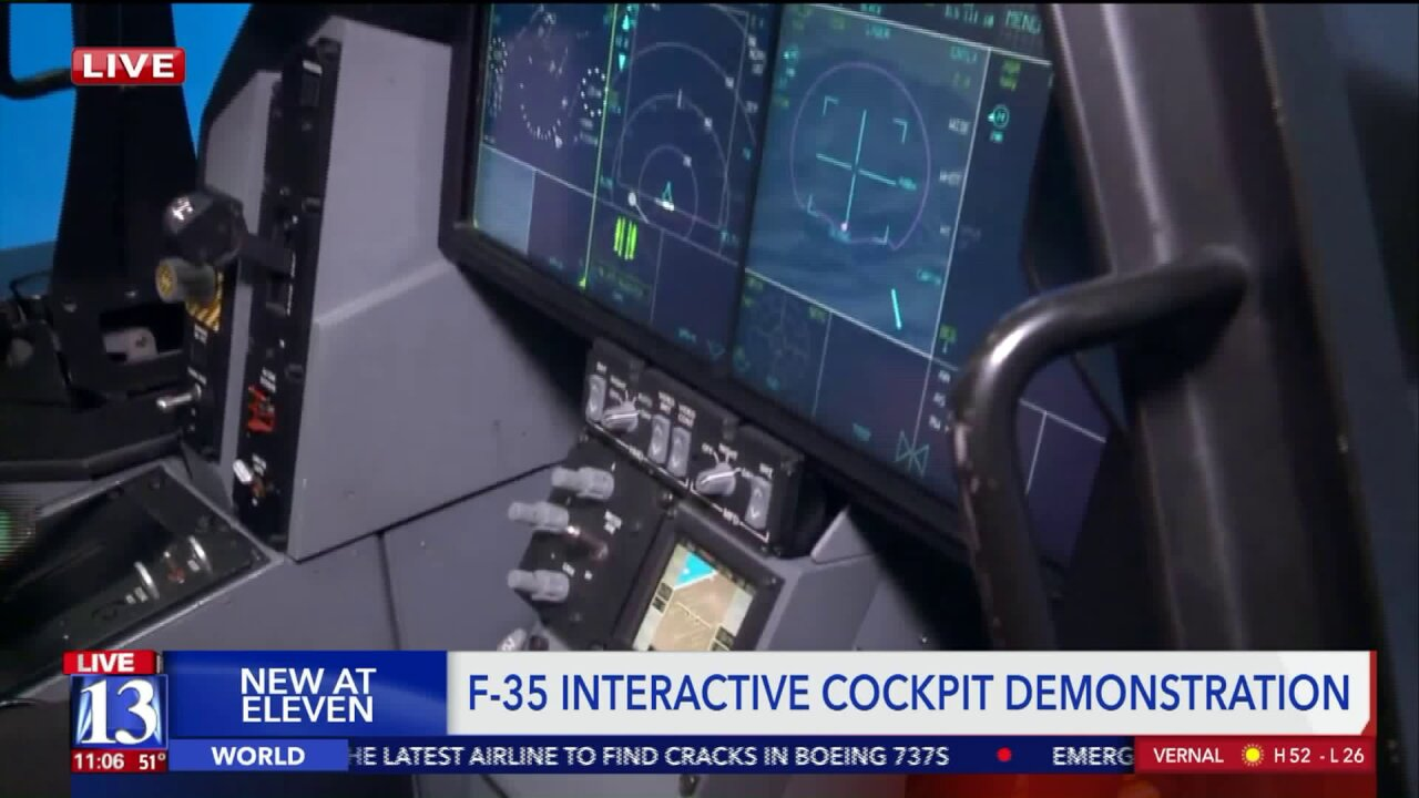 Interactive cockpit offers taste of what it's like to fly anF-35