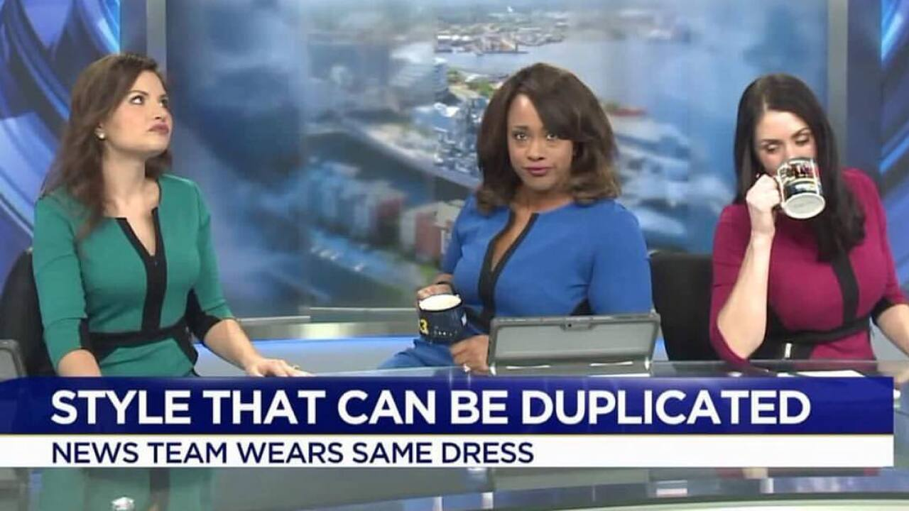 Is that my dress? Morning team seeing triple!