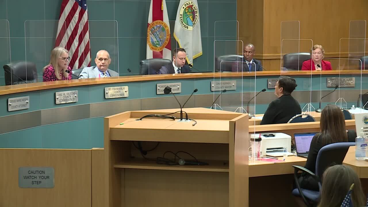 Dr. Alina Alonso talks to Palm Beach County commissioners, June 23, 2020