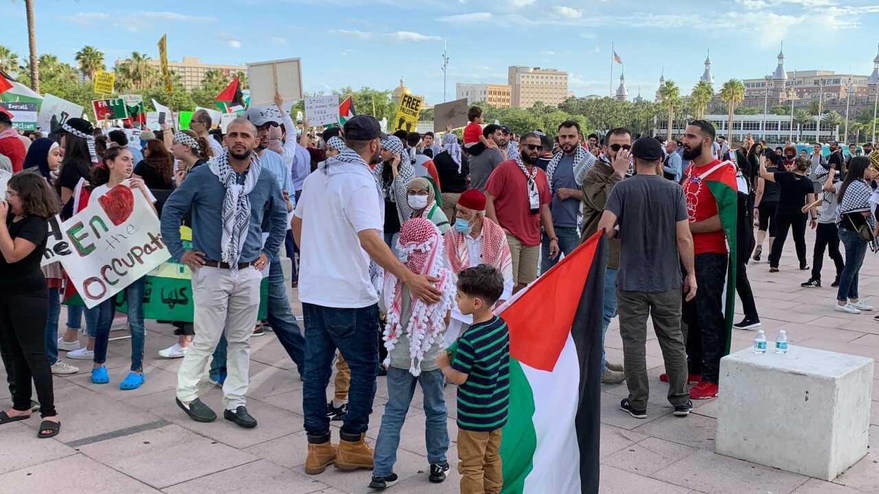"""Free Palestine"" protest in Tampa"