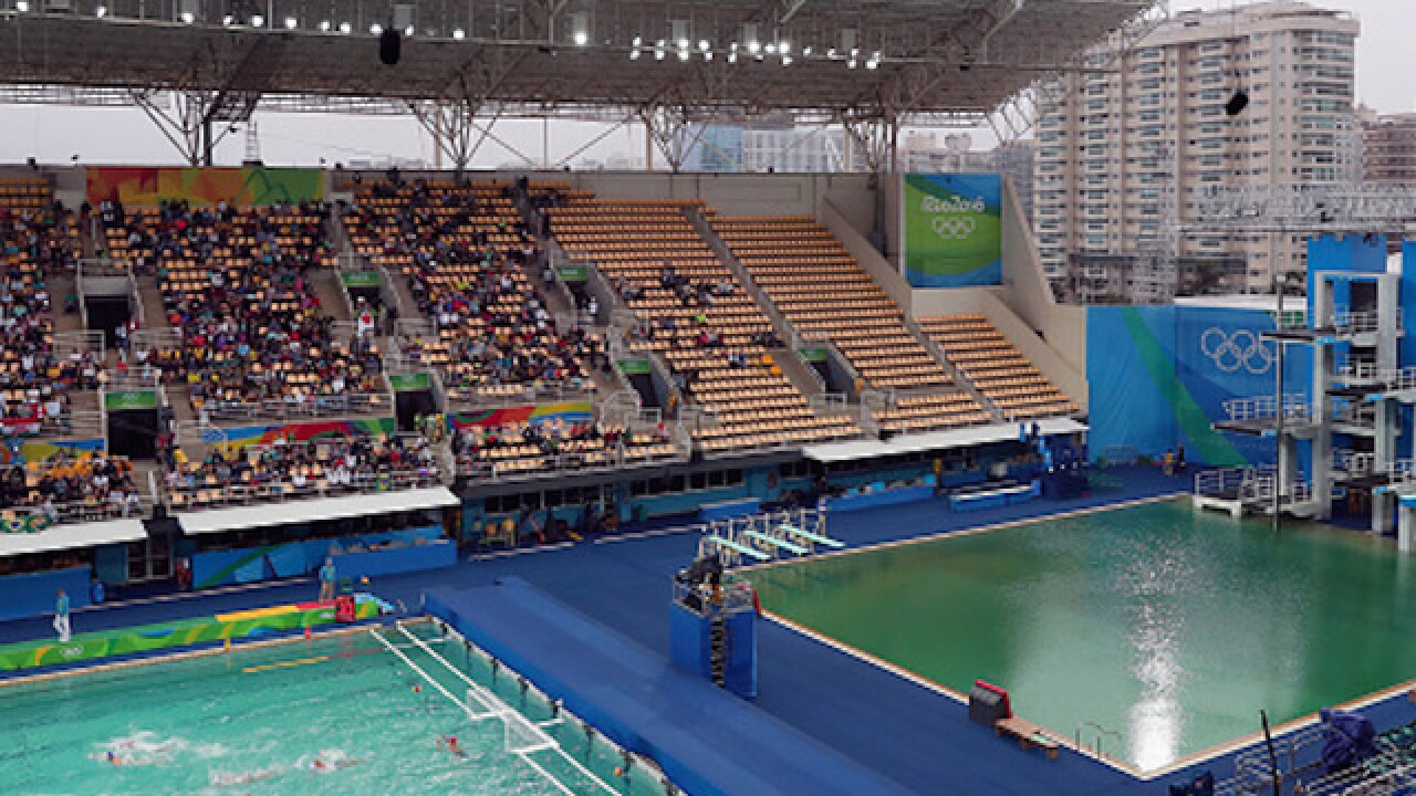 Green water at Rio diving center spreads to water polo pool