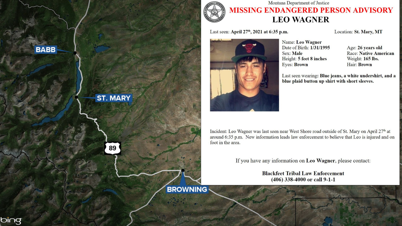 Missing-Endangered Person Advisory issued for Glacier County man