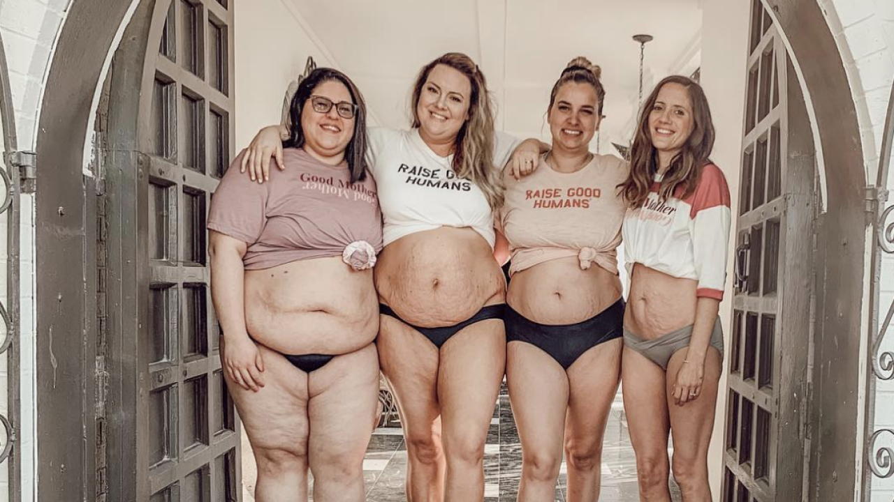 Four moms showed off their postpartum bodies on social media and were met with hate — but also love
