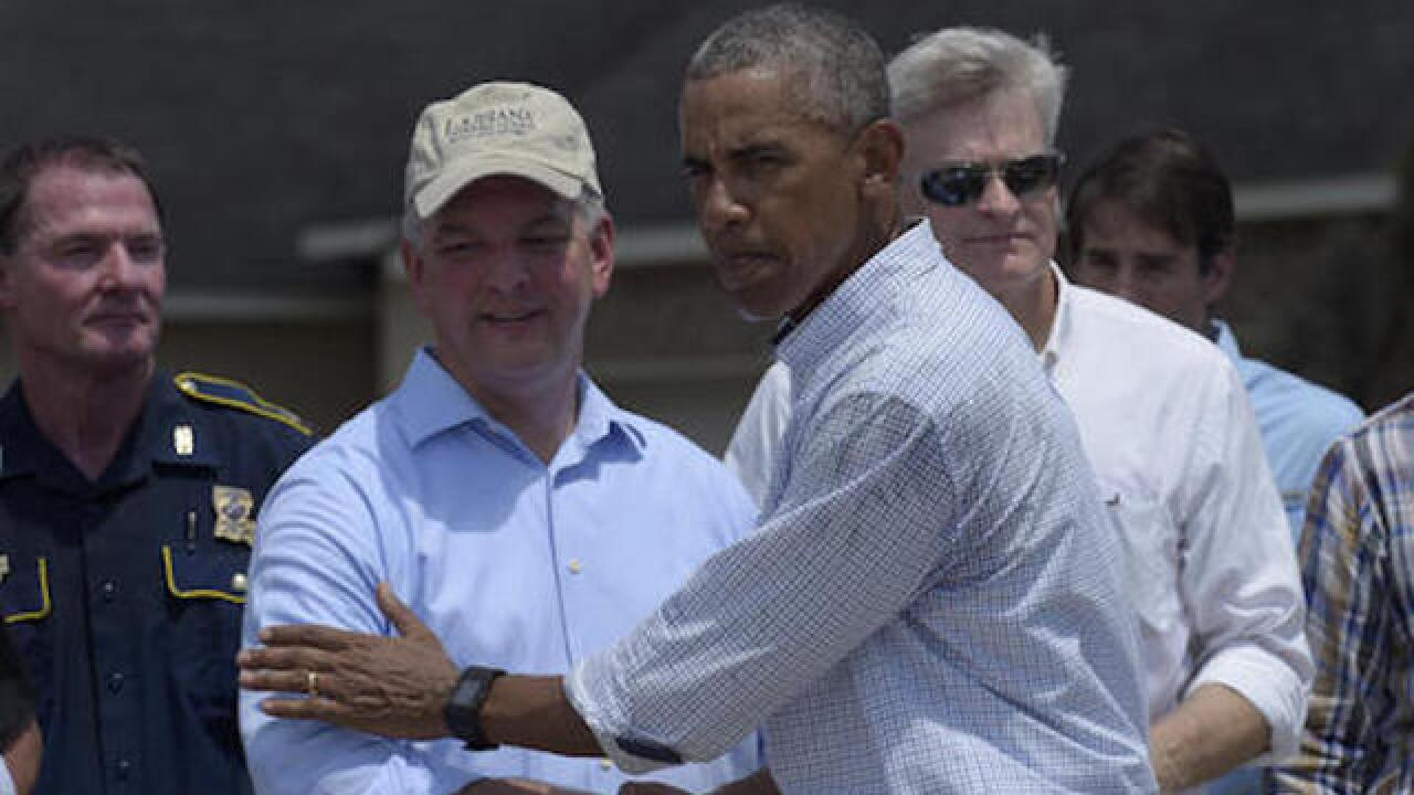 Louisiana delegation presses Obama for flood aid