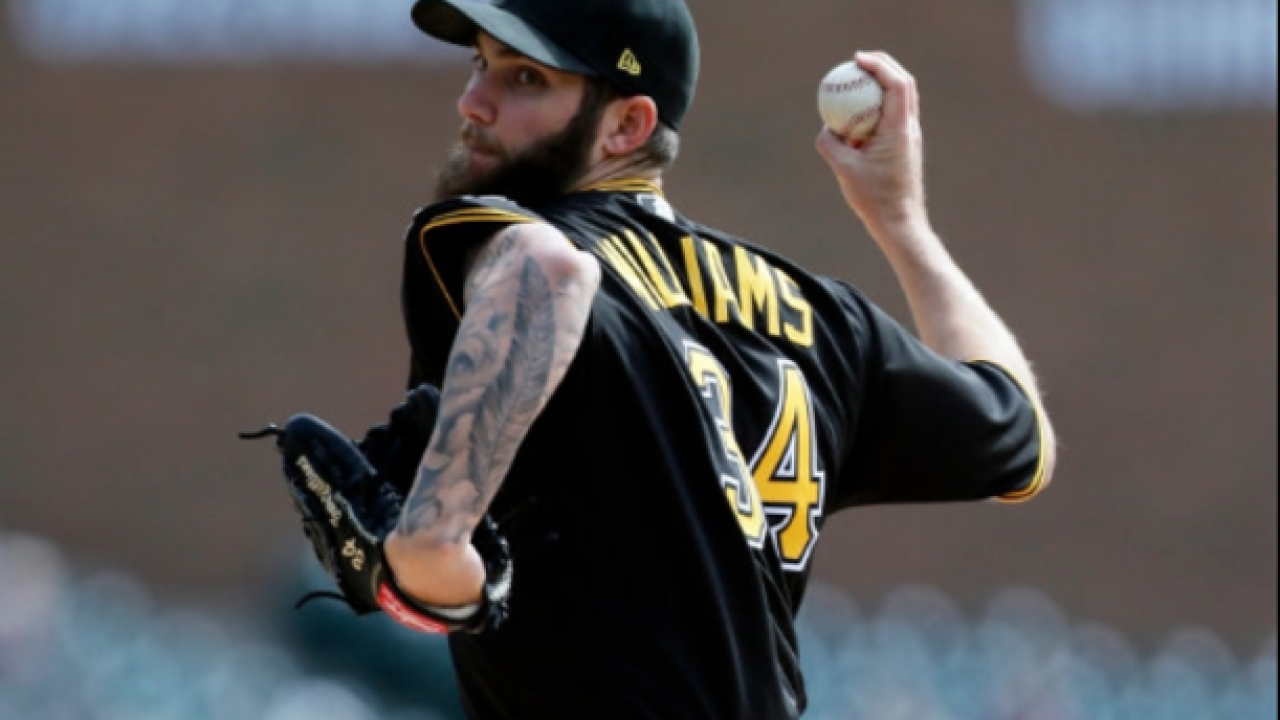 Trevor Williams pitches 6 no-hit innings, Pirates edge Tigers