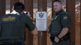 Border Security Wall Trump Plaque AP Photo