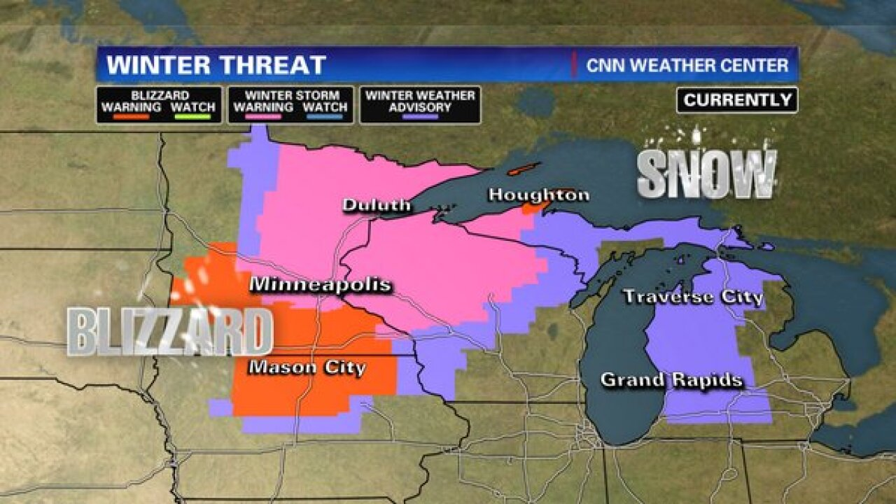 Powerful winter storm pushes eastward