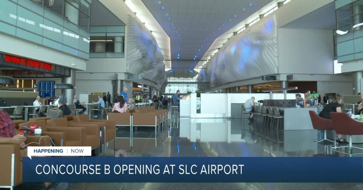 21 new gates, three restaurants, several shops now open in SLC airport's Concourse B