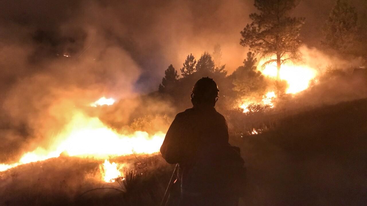 Wednesday night on the Sarpy fire - Zack Wilson - Bureau of Indian Affairs.JPG