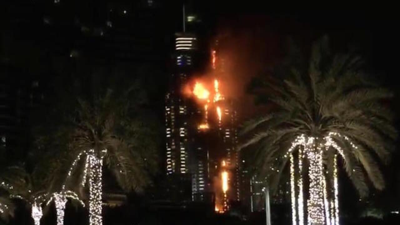 Dubai New Year's fire: Witnesses tweet photos