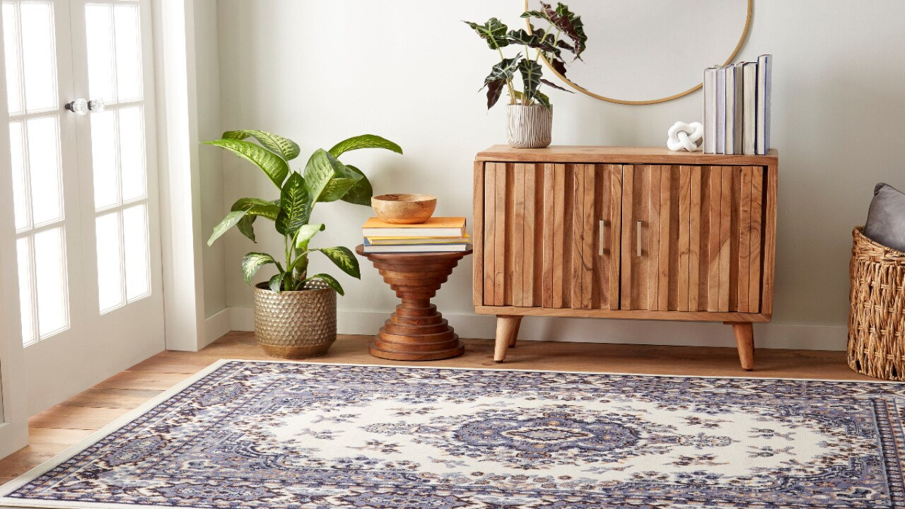 Get an area rug for less than half price at Walmart right now