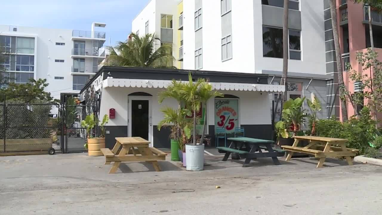 The O.G. bar in Delray Beach after reopening in January 2021