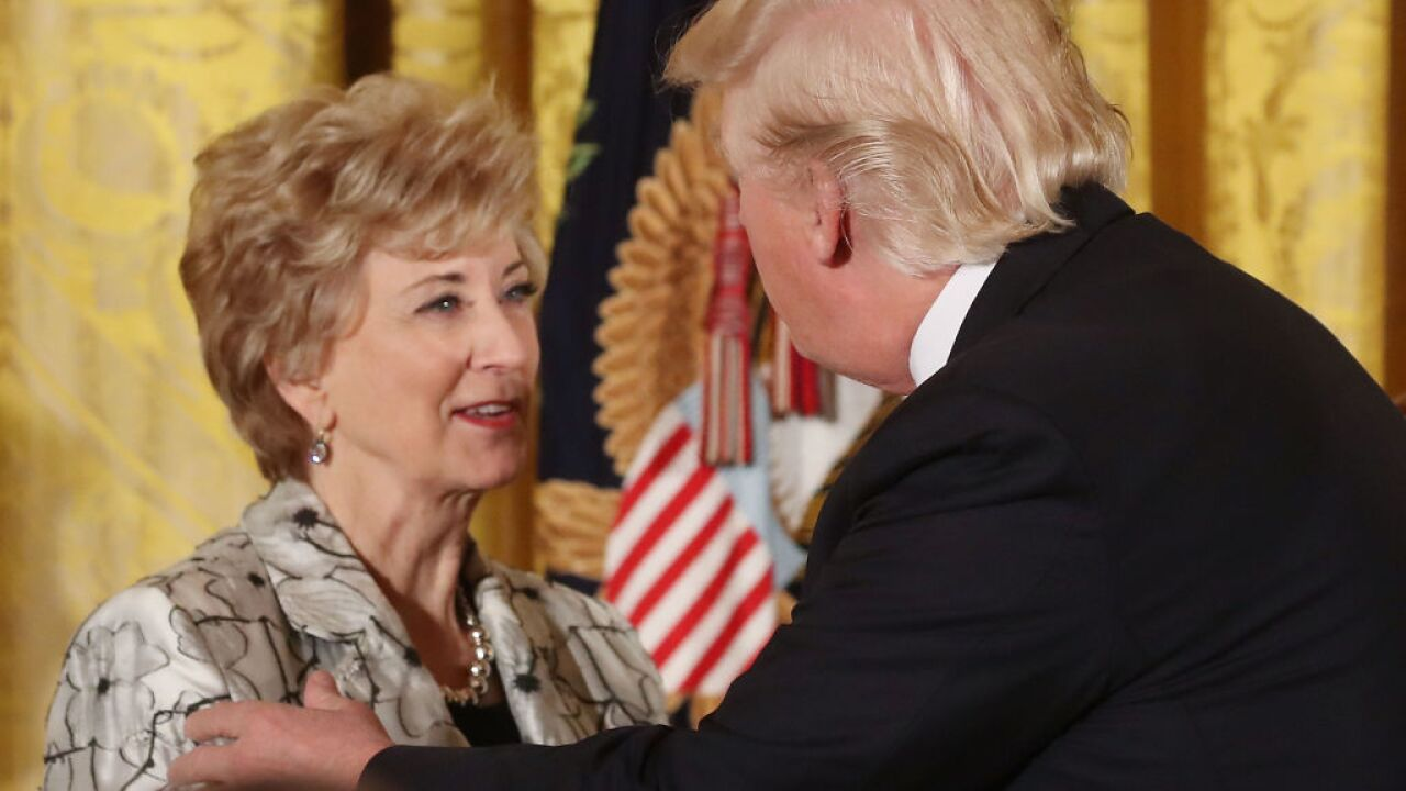 Linda McMahon plans to resign as SBA administrator
