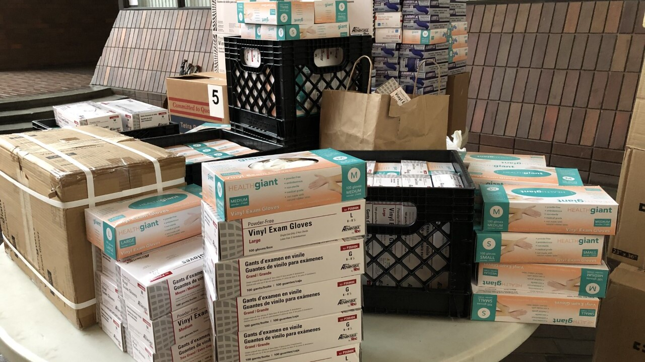 Cleveland Metropolitian School District donates medical supplies.