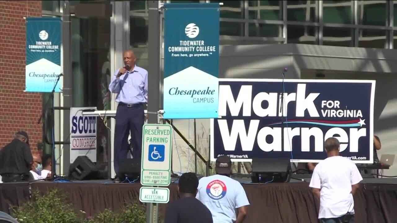 Warner, Scott Get Out the Vote rally (October 24).jpg