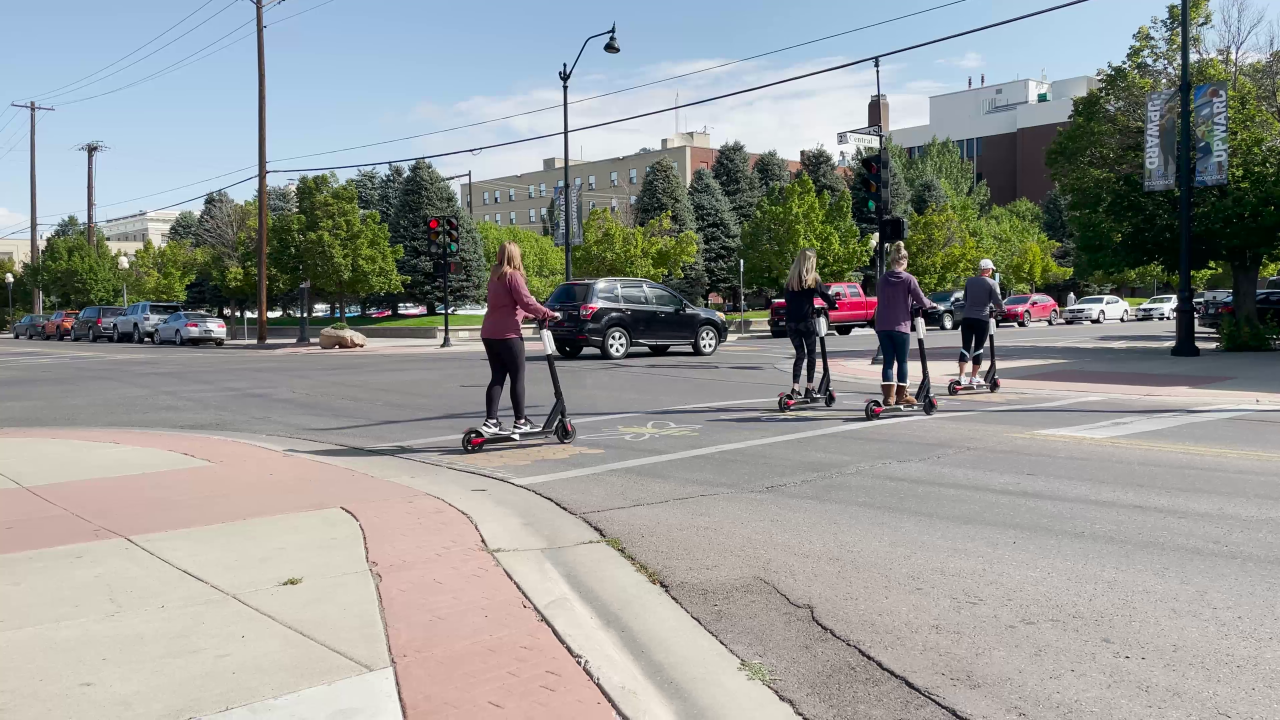 Electric scooters are on a roll in Great Falls