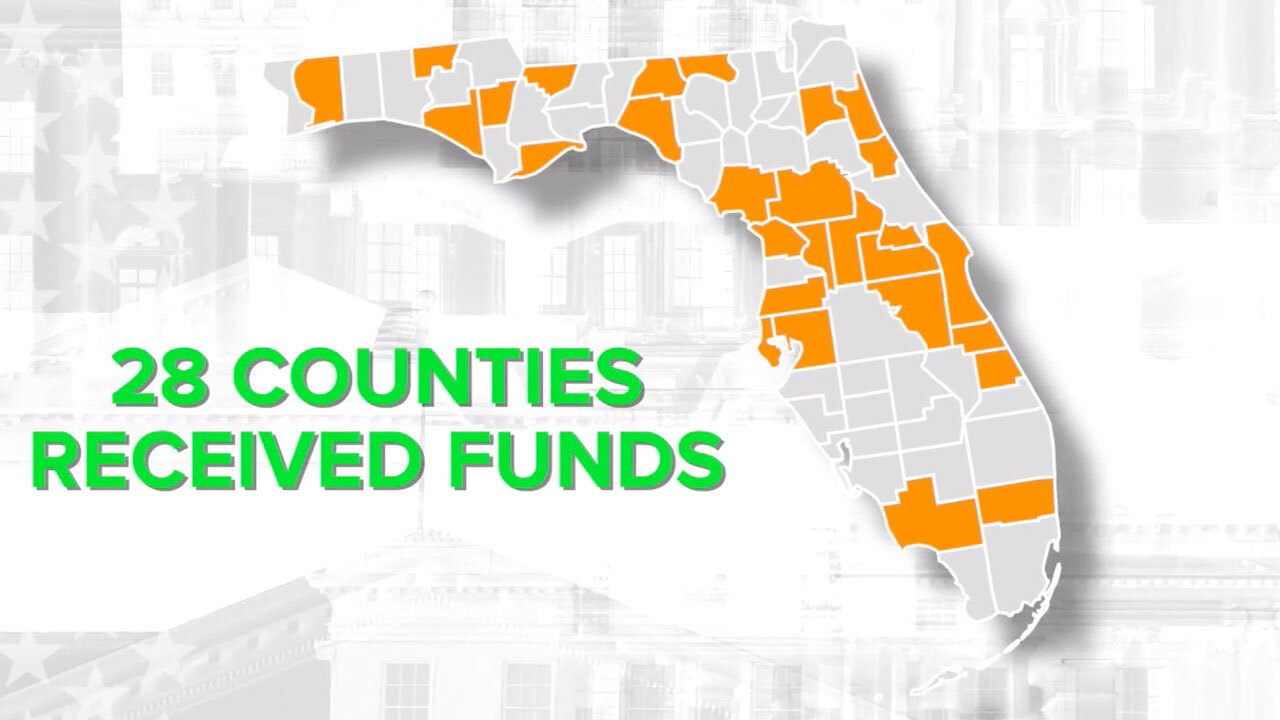 Florida counties receiving CARES act money for elections