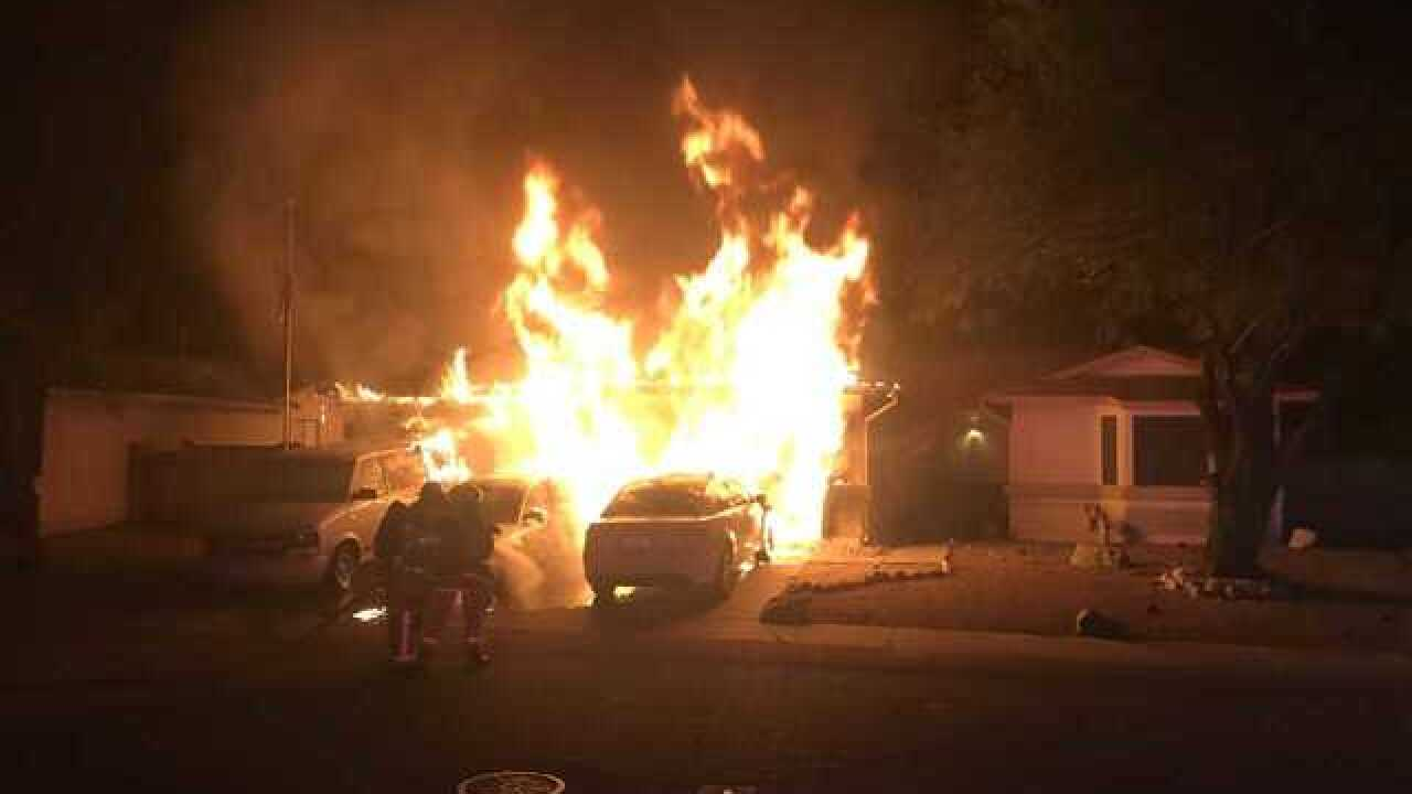 Woman, dog safely escape eastside house fire