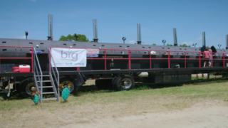 18-wheel Truck Turned Into A Massive Mobile Meat Smoker