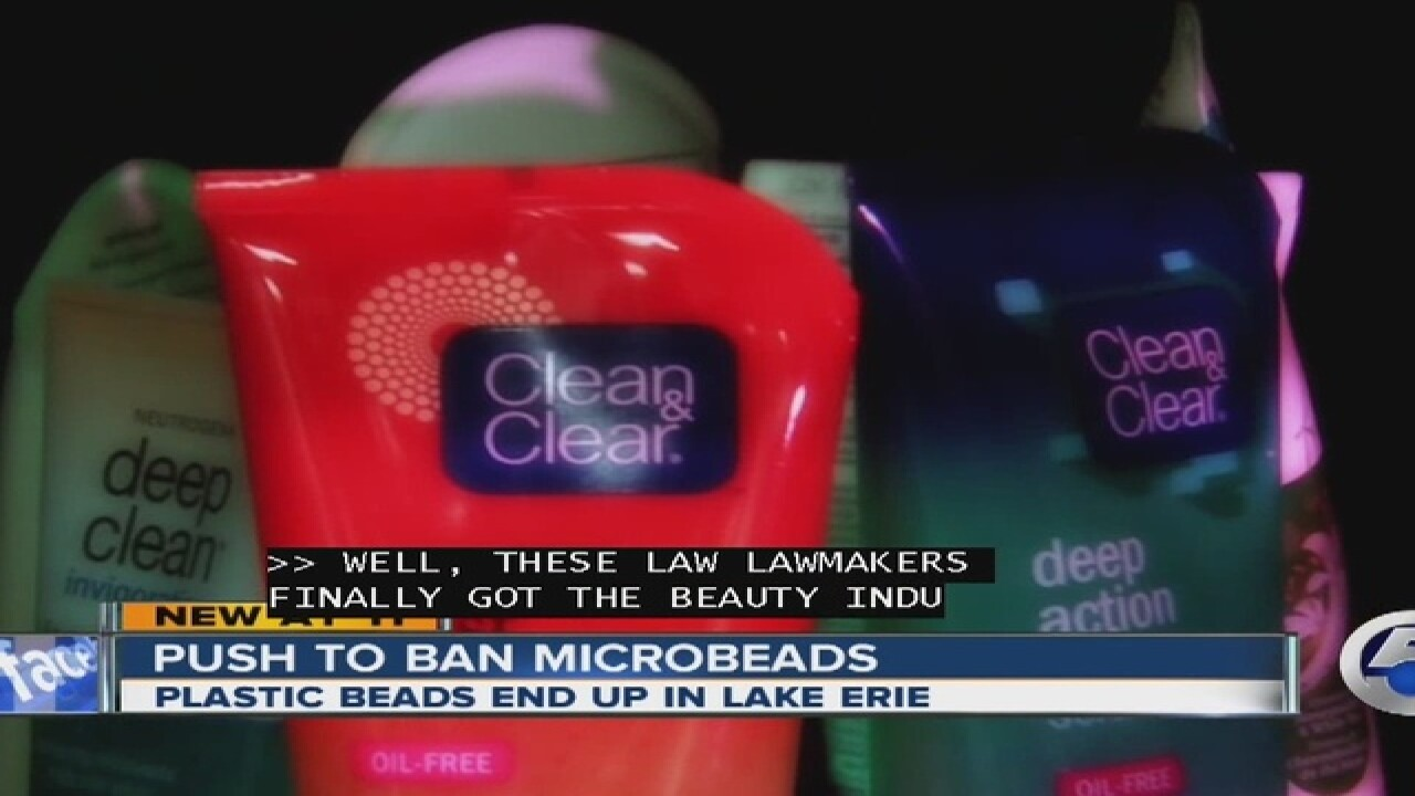 NE Ohio lawmakers push microbead ban
