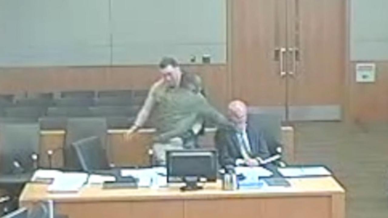 Man attacks own attorney in court
