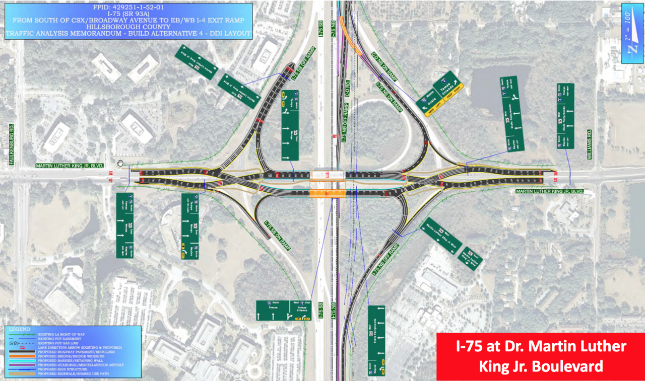 FDOT rendering of diverging diamond interchange