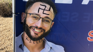 Campaign sign for Jewish candidate in Arizona state senate race vandalized with swastika