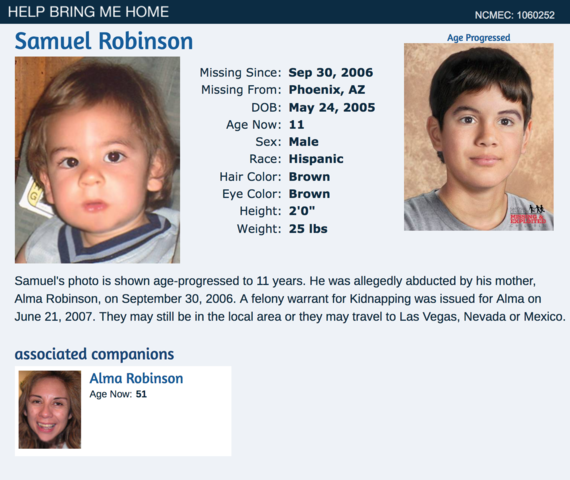 Missing children in Arizona: 138 open cases