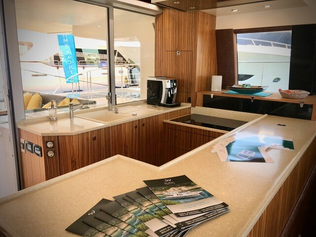 See inside a solar-powered boat at The Palm Beach International Boat Show