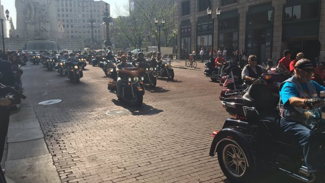 Gov. Pence gets on a Harley