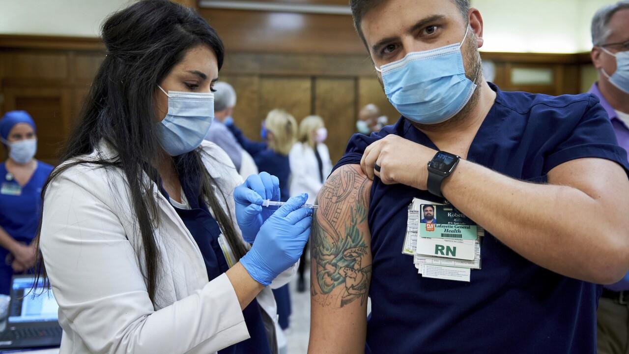 Virus Outbreak Louisiana Vaccine
