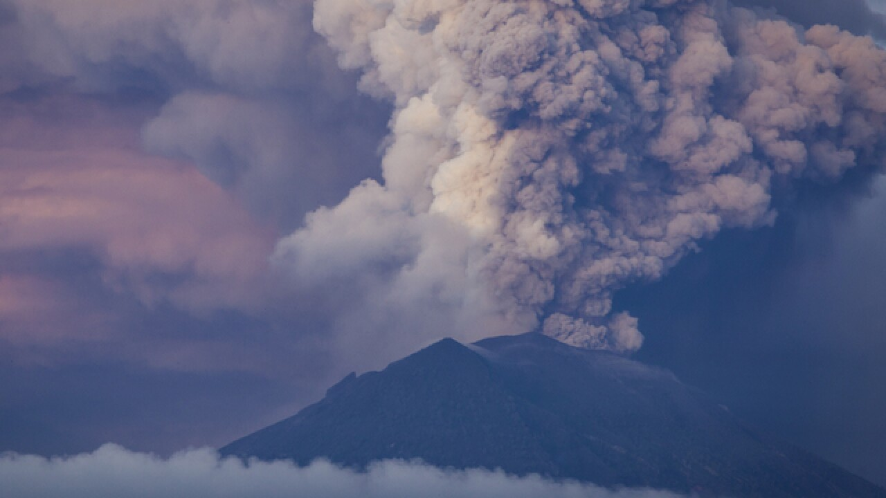 Erupting volcano is suffocating Bali's economy