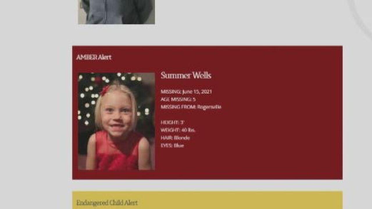 Summer Wells Amber Alert