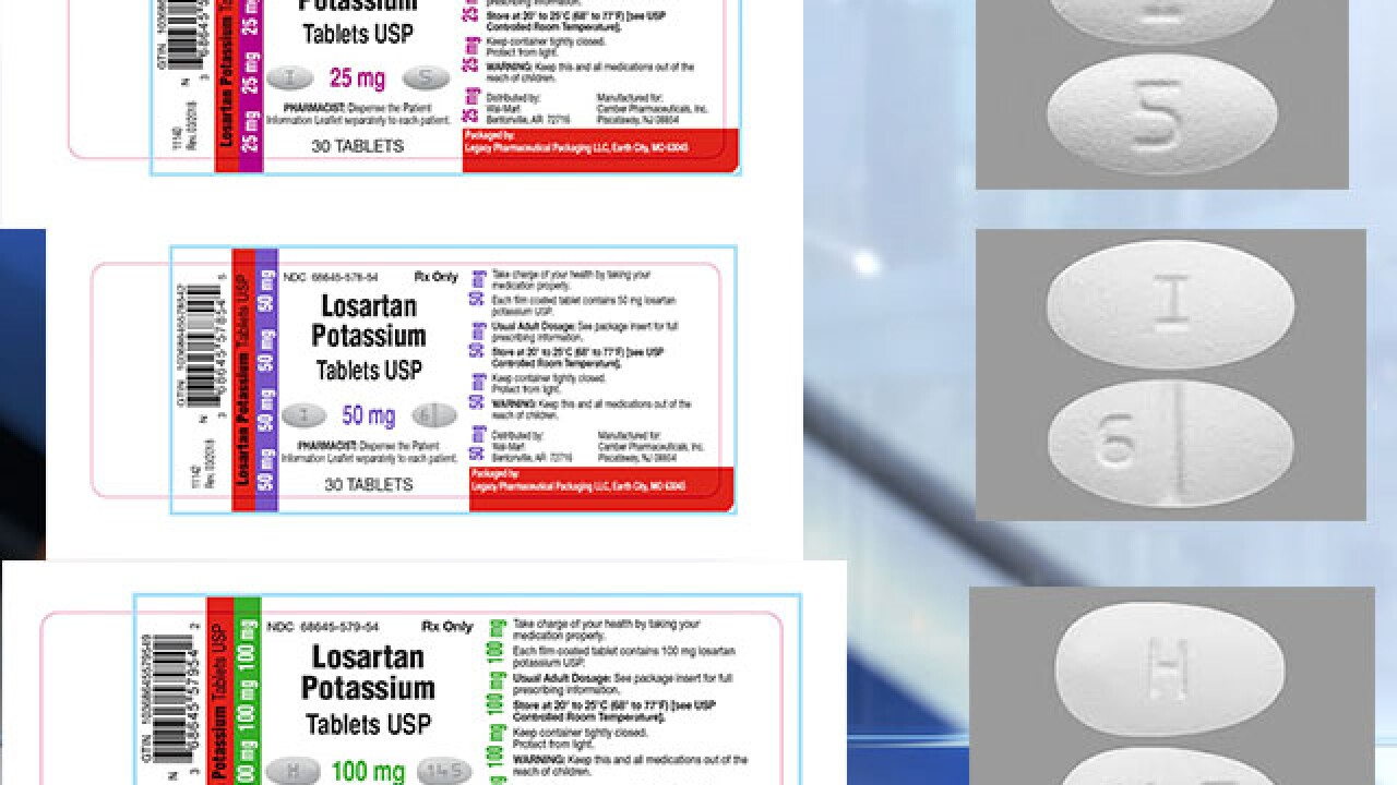 More blood pressure medication recalled for small amounts of possible cancer-causing substance