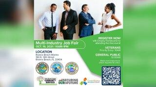Job Fair at Riviera Beach Marina Village Event Center on Oct. 19, 2021