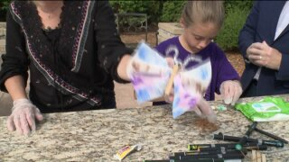 Craft Corner: Baby Wipe Butterflies