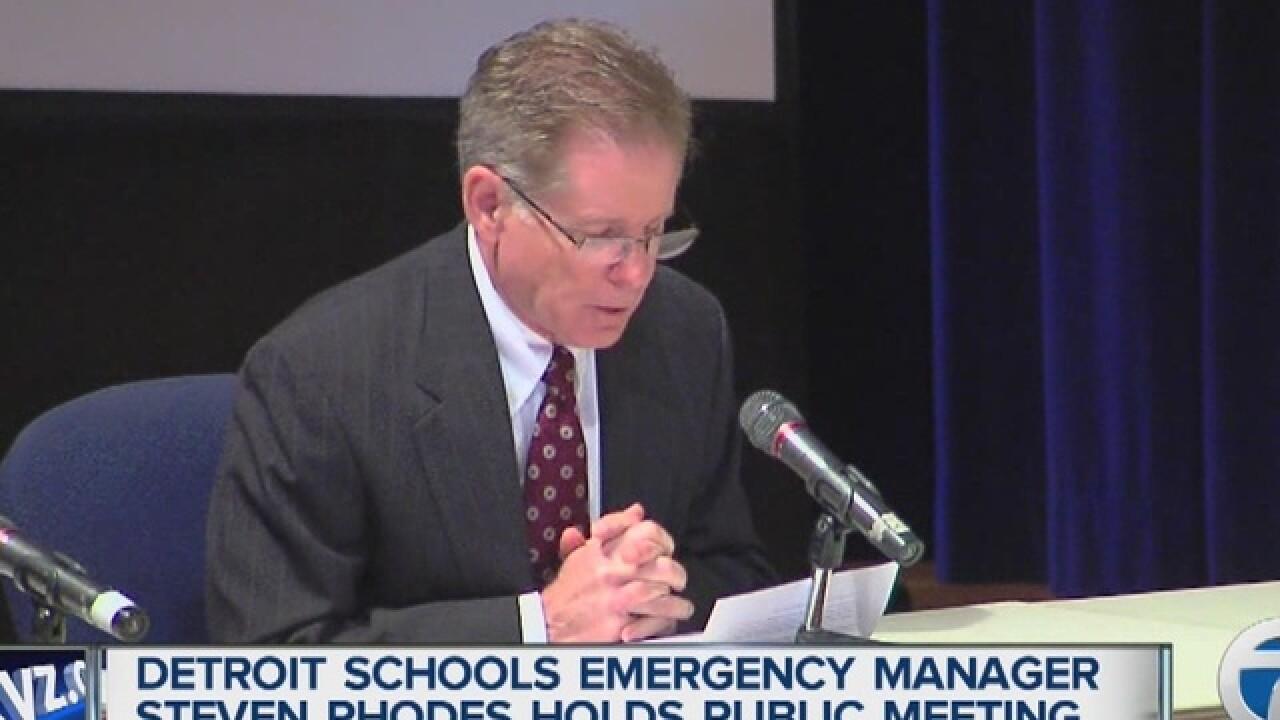 Judge Rhodes to meet with Detroit school board