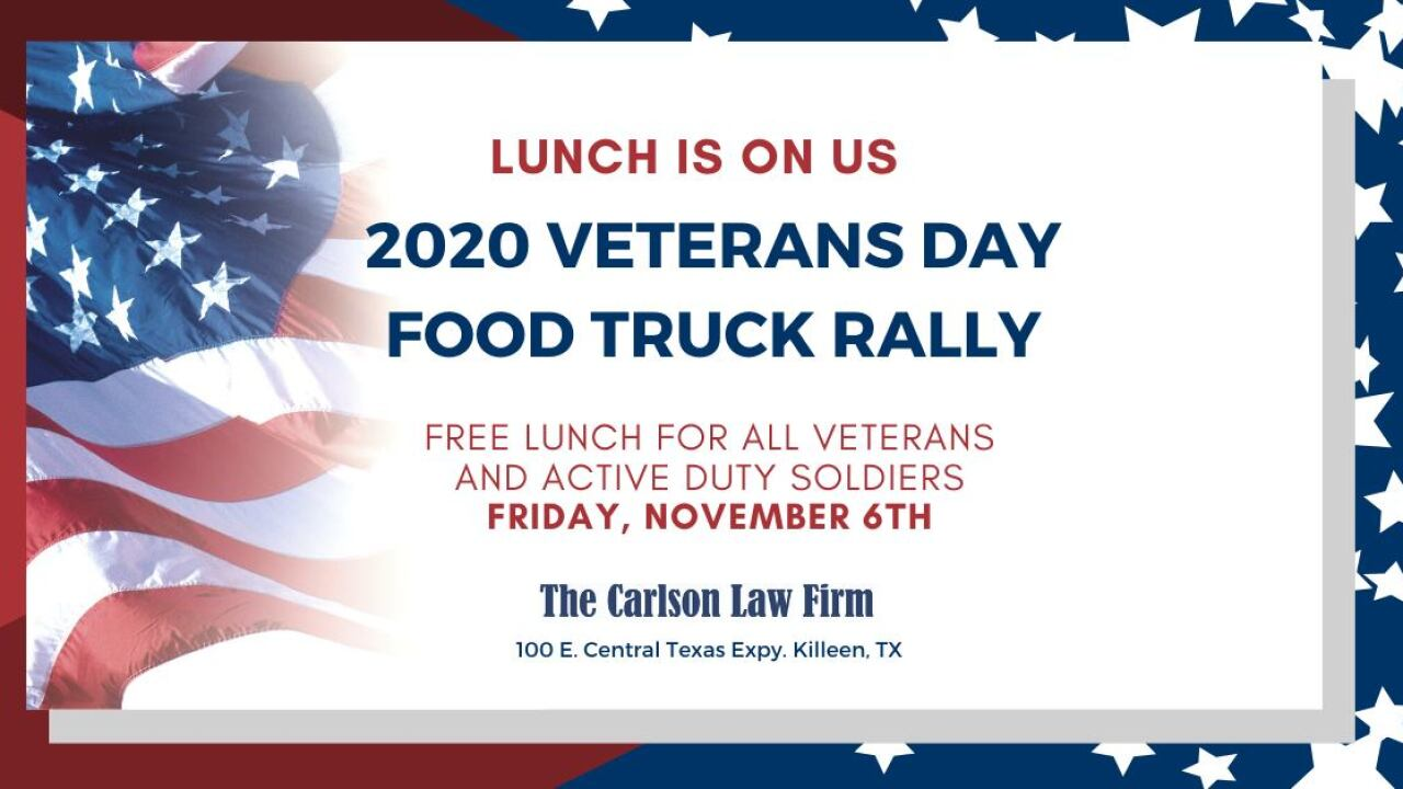 Carlson Law Firm Veteran's Day Event