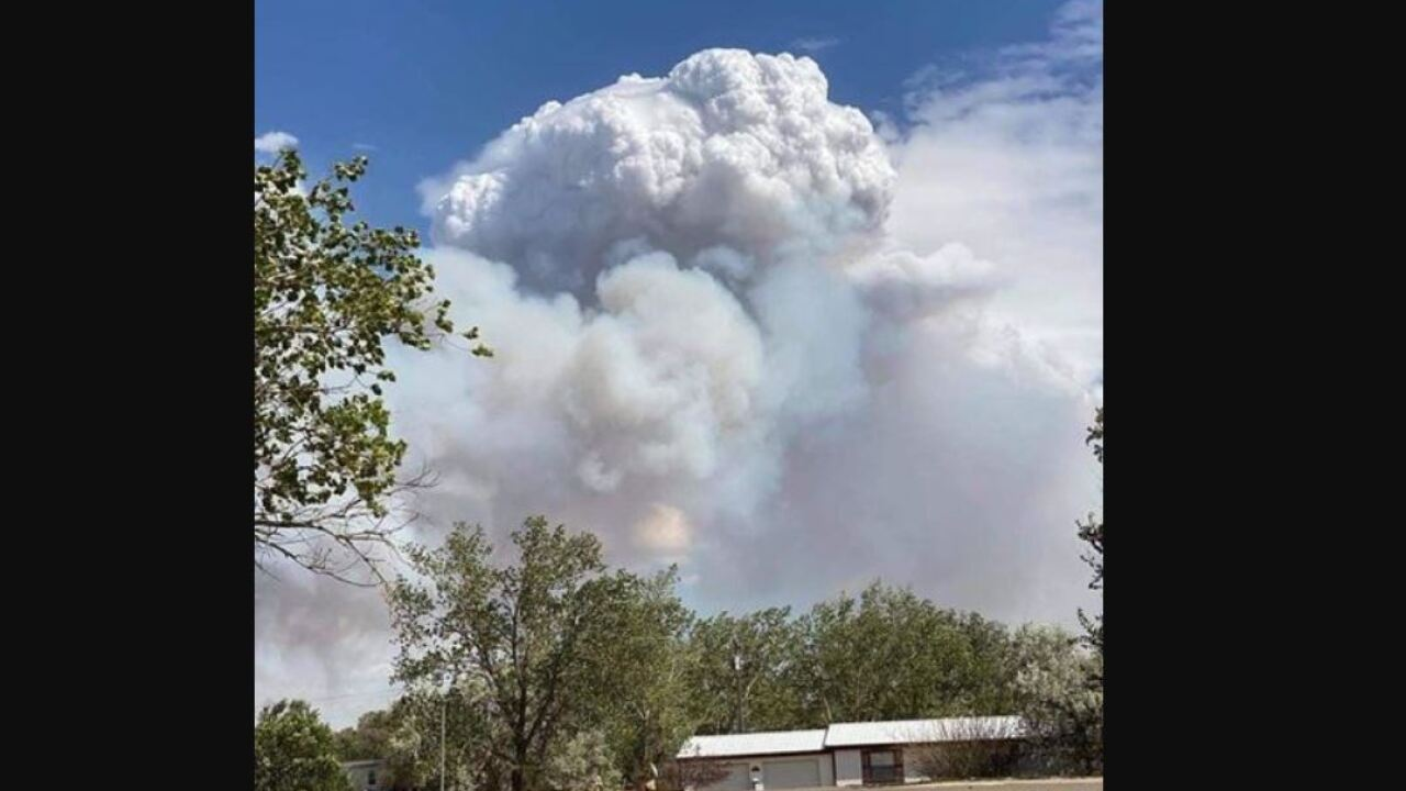 Fire in Garfield County pushed out of control by wind