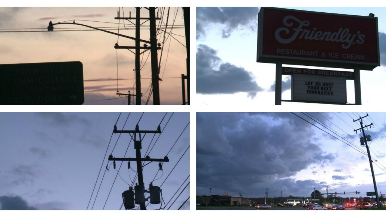 Parts of Chesterfield resemble a 'ghost town' during power outage