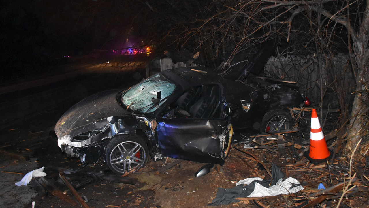 Man killed, woman injured in stolen Ferrari crash in Arvada