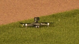 Drone lands in Wrigley Field, causing brief delay in Cubs/Indians game