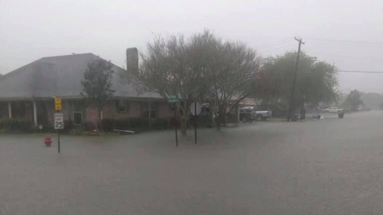 Flooded street Bayou Vista